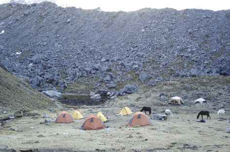 Camp au pied du Salcantay - Pérou -