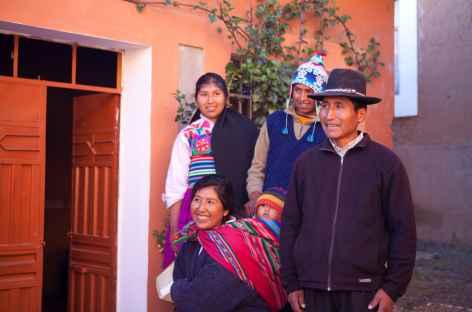 Notre famille d'accueil sur l'île d'Amantani - Pérou -