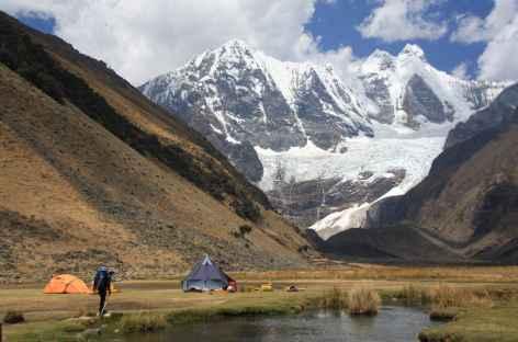 Arrivée au camp de Jahuacocha - Pérou -