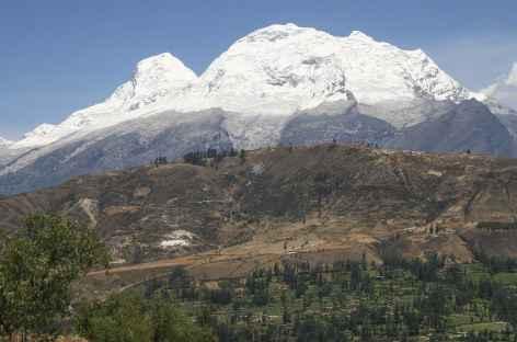 Vue sur le Huascaran depuis la vallée de Huaraz - Pérou -