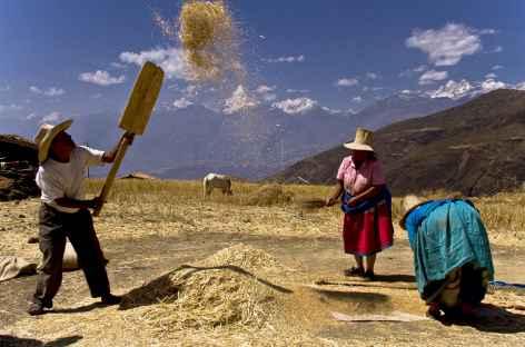 Paysans au travail dans la Cordillère Noire - Pérou -