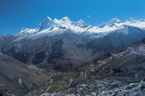Vue sur les Huandoy depuis le col Llanganuco - Pérou -