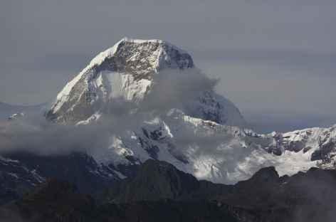Majestueux Huascaran depuis notre camp de Yaino -
