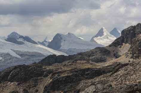 Vue sur la Cordillère Raura depuis le col Trapecio - Pérou -