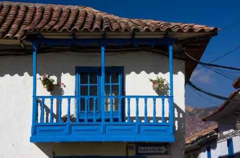 Détail d'une façade à Cusco - Pérou -