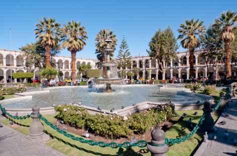 Arequipa, place d'Armes - Pérou -