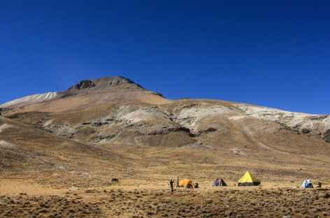 Arrivée au camp de Qollpa - Pérou -
