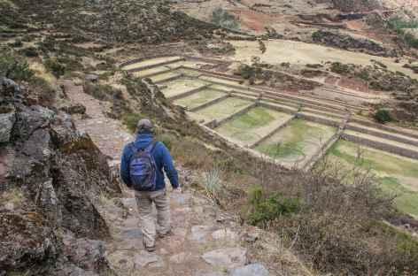 Arrivée sur le site inca de Tipon - Pérou -