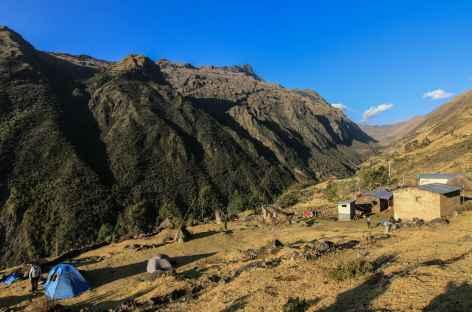 Notre camp dans le village de Yanama - Pérou -