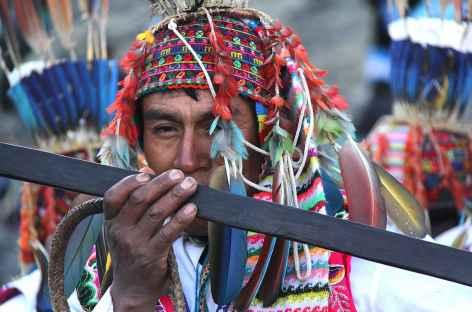 Pendant la fête de Qollurity - Pérou -