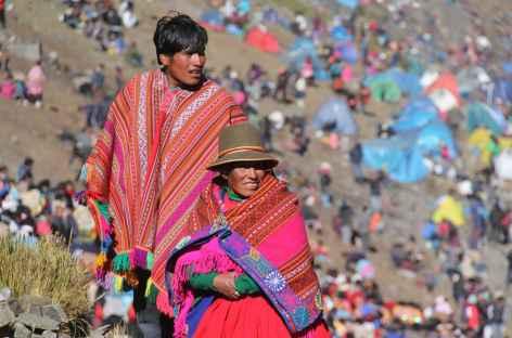 Un visage, un costume, une ambiance lors de la fête de Qollurity - Pérou -