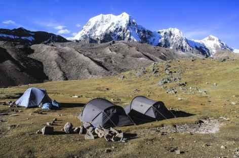 Camp au bord des lagunes Ticclacocha - Pérou -