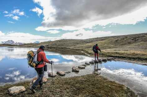 Marche vers notre camp de Sibinacocha - Pérou -