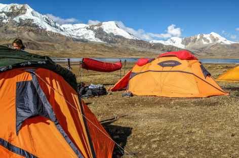 Notre camp à la lagune Ccascana - Pérou -