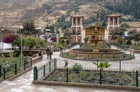 La place d'Armes du village de Chavin - Pérou -