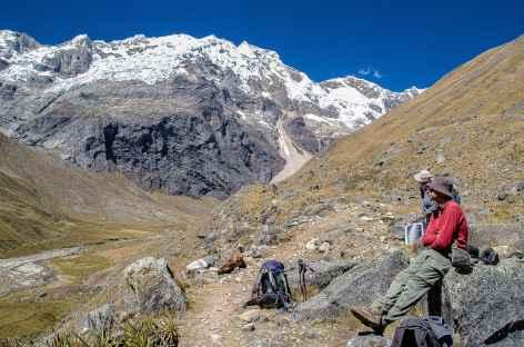 Dans la quebrada Alpamayo - Pérou -