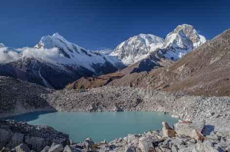Balade vers la lagune 69, vue sur le Chopicalqui et les Huascaran Nord et Sud - Pérou -