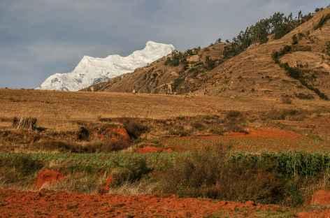 Vue sur le Hualcan depuis Carhuaz - Pérou -