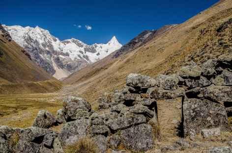 Marche face à l'Alpamayo - Pérou -