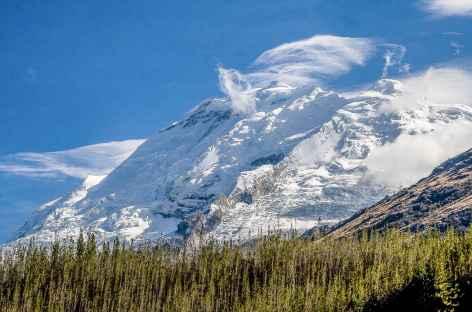 Vue grandiose sur le Huascaran entre Copa Grande et la quebrada Gatay - Pérou -