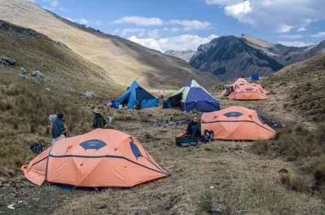 Le camp du col Bartolome - Pérou -