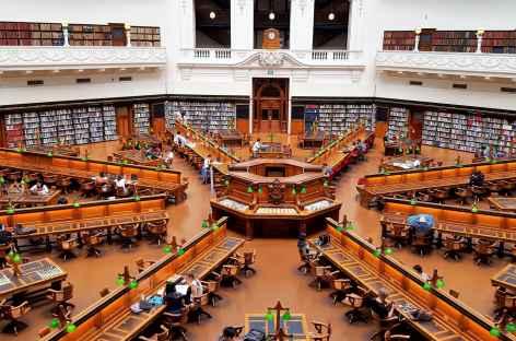 La bibliothèque de Melbourne - Australie -