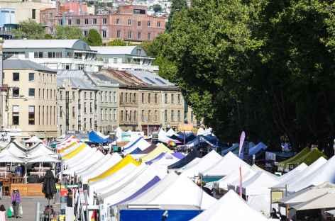 Le célèbre marché de Hobart - Tasmanie -