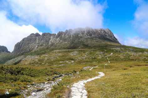 objectif le sommet de Cradle Mountain (1545 m) - Cradel Mountain - Tasmanie -