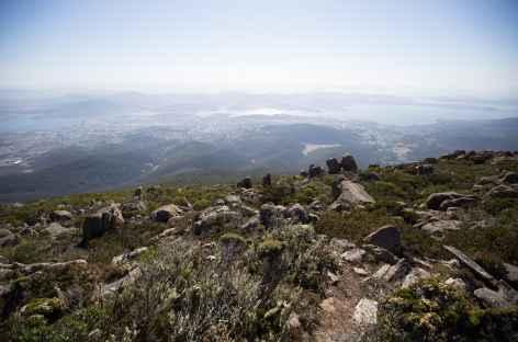 Depuis le sommet du Mt Wellington -