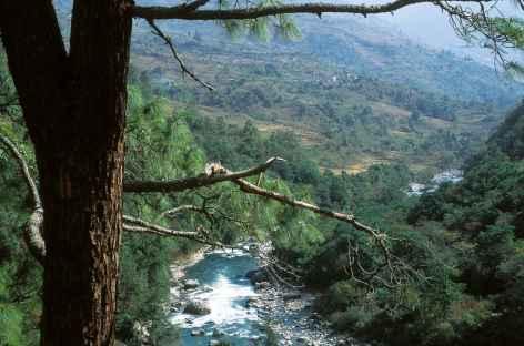En direction de Phongmey - Bhoutan -