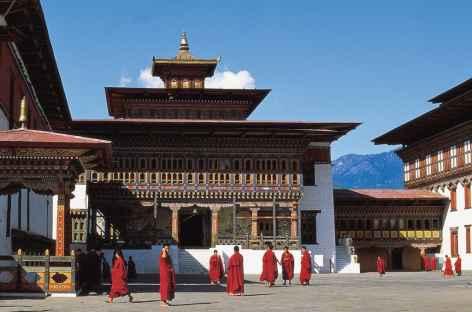 A l'intérieur du dzong de Thimphu - Bhoutan -