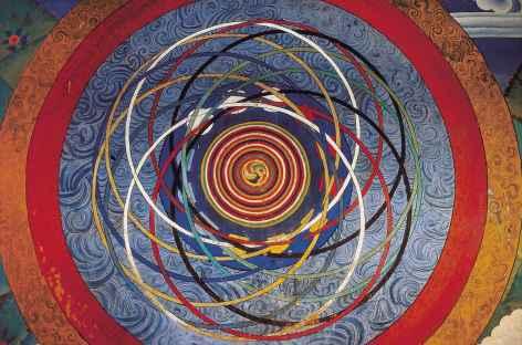Fresque murale  - Bhoutan -