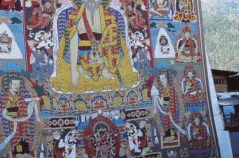 Déroulé de la grande Thangka  - Bhoutan -