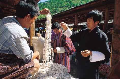 Sur le marché  - Bhoutan -