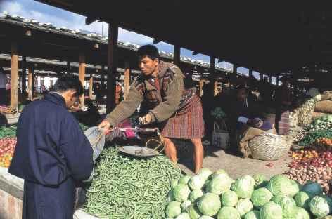 Marché de Thimphu  - Bhoutan -