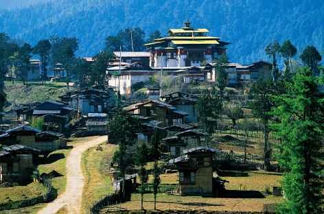 Arrivée à Gangtey - Bhoutan -