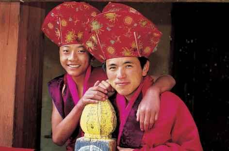 Sourires lors du Festival  - Bhoutan -