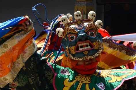 Masques et costumes sont raffinés  - Bhoutan -