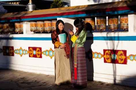 Rencontre au monastère - Bhoutan -