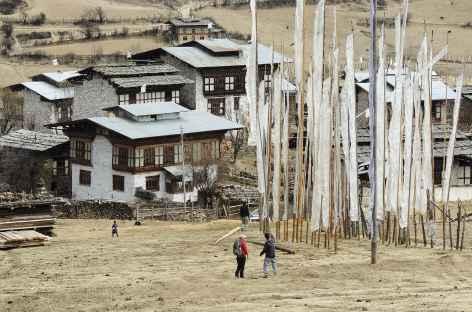 En Arrivant à Ura - Bhoutan  -