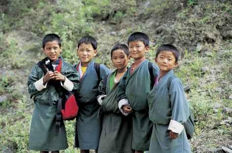 Jeunes écoliers - Bhoutan -