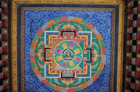 Mandala, plafond de Tharpaling - Bhoutan -