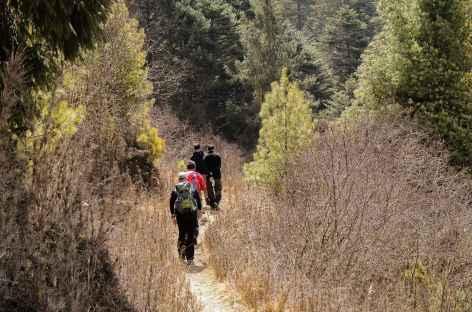 Au départ de Tharpaling - Bhoutan  -