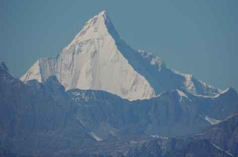 Jichu Drake lors du vol vers Bhumang - Bhoutan -