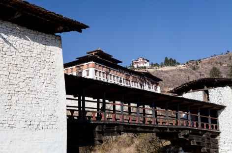 Pont, Dzong et Ta Dzong de Paro - Bhoutan -