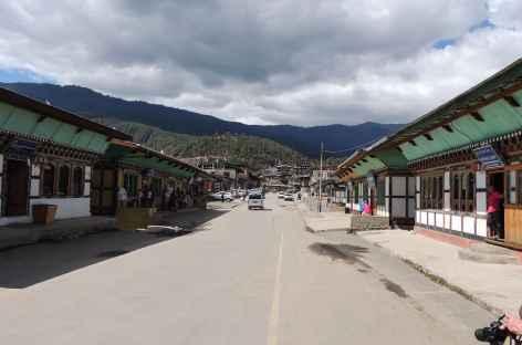 Rue principale à Jakar - Bhoutan -