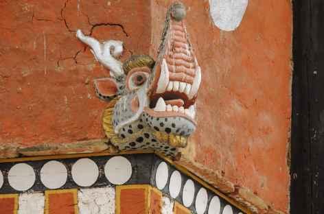 Détail au Dzong De Ura - Bhoutan -