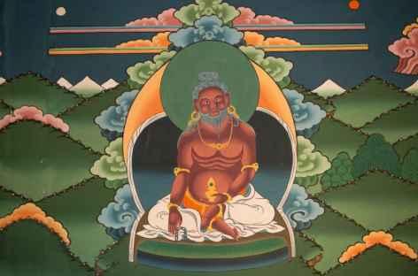 Peinture murale représentant Thangthong Gyelpo - Bhoutan -