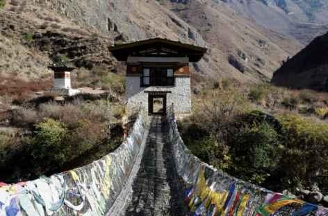 Pont sur chaines de Tacho Lhakhang construit par Thangthong Gyelpo - Bhoutan -