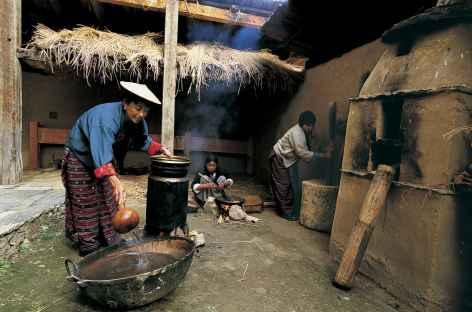 Intérieur d'une maison - Bhoutan -